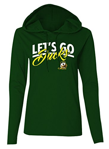Old Varsity Brand NCAA Oregon Ducks Women's Plus French Terry T-Shirt, 2X, Forest Green