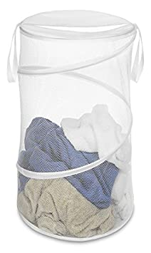 Whitmor 6233-1170-WHT 15-Inch Collapsible Hamper, White