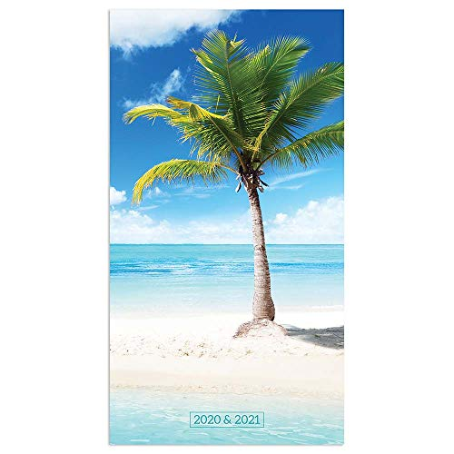 2 Year Pocket Calendar (2020-2021 Tropical Beaches 2-Year Small Pocket Planner)