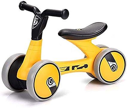 JHUEN Bicicletas Equilibrio NiñOs 3 AñOs Amarillo, Plastico Ligero NiñOs Caminante Durante 18 Meses Sin Pedal Infantil 4 Ruedas Bicicleta para NiñOs PequeñOs para Chicos Chicas Primer Regalo: Amazon.es: Deportes y aire libre