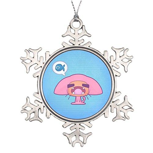 [Little devil Cat Costume Furry Tree Branch Decoration Christmas Photo Snowflake Ornaments] (Chibi Halloween Costume)