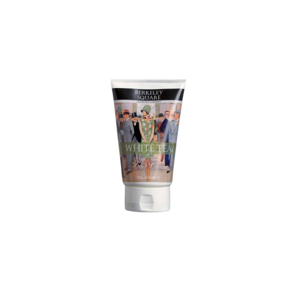Berkeley Square Cosmetics Company White Tea Scented Shea Butter Hand Cream, 4 Fluid Ounce