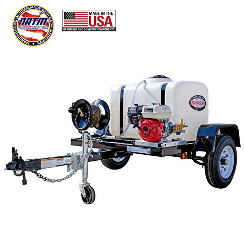SIMPSON Cleaning 95000 Trailer Cold Water Mobile Washing System Powered