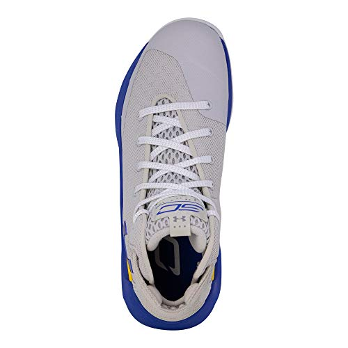 Under Armour Kids Boys UA GS Curry 3ZERO Basketball (Grey/Taxi/Royal Blue, 5.5 M US Big Kid) by Under Armour (Image #4)
