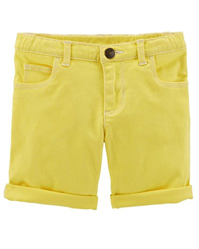 Carter's Girls' Stretch Skimmer Shorts (5T, Yellow)