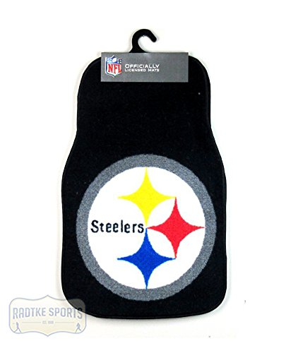 Pittsburgh Steelers Officially Licensed 17x27 Carpet NFL Car Mats 2 Piece -