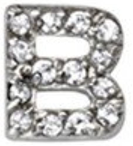 925 Sterling Silver White Cubic Zirconia Initial Pendant in Silver Choice of Initials and Variety of Options