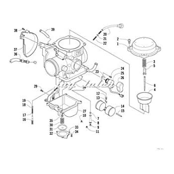 Amazon Com Carburetor For Arctic Cat 366 2008 2011 Automotive