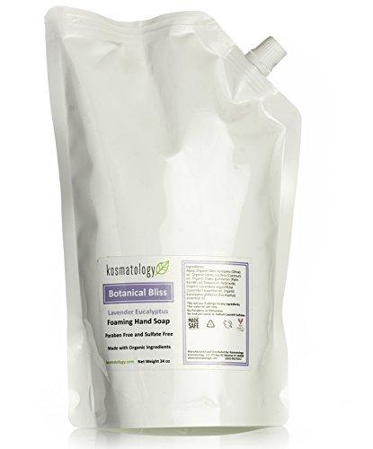 Kosmatology Botanical Bliss (Lavender-Eucalyptus) Organic Foaming Hand Soap Refill Bag, 34 fl oz