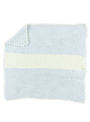 Barefoot Dreams Cozy Chic Striped Receiving Blanket (Blue, 30x32)