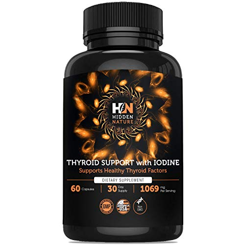 Thyroid Support Supplement with Iodine - Metabolism Booster for Weight Loss & Energy Pills - Hypothyroidism Supplements for Nature Throid with Ashwagandha, Selenium, Zinc Cooper - Herbal Thyroid Support