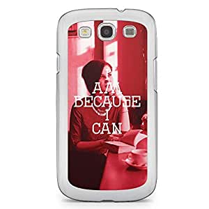 Inspirational Samsung Galaxy S3 Transparent Edge Case - I am Because I can