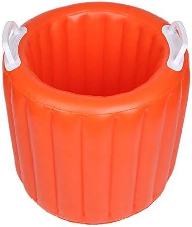 Fssh-mlx 20Lポータブル折りたたみバケツ流域の観光アウトドア折りたたみ釣りバケツ洗面台洗車バケツアウトドアキャンプアクセサリー (色 : Orange)