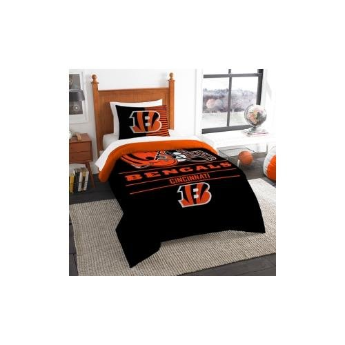 The Northwest Company NFL Cincinnati Bengals Twin Comforter and Sham, One Size, Multicolor