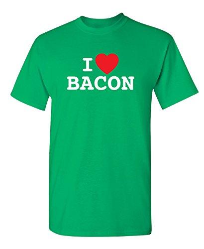 I Love Bacon Graphic Cool Novelty Funny Youth Kids T Shirt YM Irish (Love Boys Irish Green)