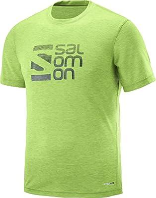 SALOMON L40110500 S Camisa y Camiseta Cuello Redondo Manga Corta Poliéster - Camisas y Camisetas (Camiseta, Adulto, Masculino, Verde, Imagen, S): Amazon.es: Deportes y aire libre