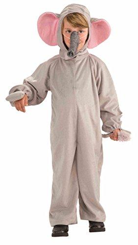 [Forum Novelties Cozy Fleece Elephant Costume, Child Small] (Elephant Costume 4 Year Old)