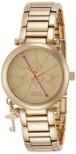 Vivienne Westwood watch Kensington Gold Dial Stainless Steel Quartz VV006KGD Ladies