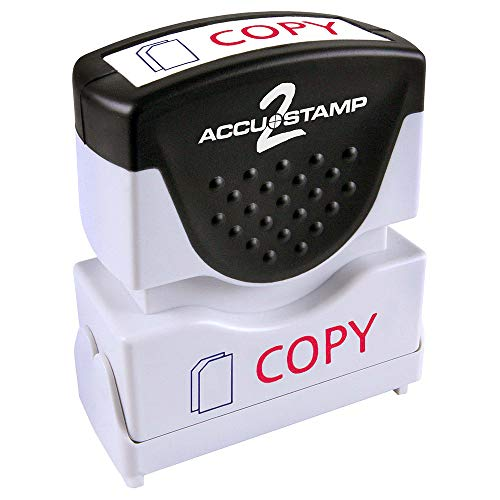 - ACCU-STAMP2 Message Stamp with Shutter, 2-Color, COPY, 1-5/8