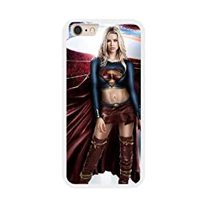 Fashion Style for iPhone 6 plus 5.5 inch Cell Phone Case White Superheroes Supergirl DCW3205327