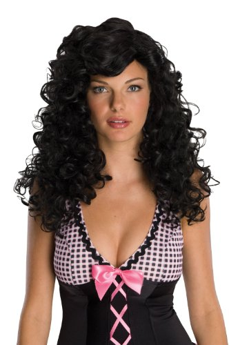Black Dolly Wig (51769/95 (Black) Rockabilly Wig)