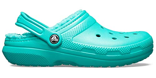 Crocs Classic Lined Clog, tropical teal/tropical teal, 6 US Men / 8 US Women