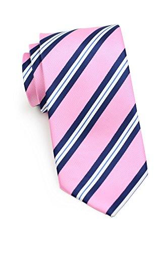 Bows-N-Ties Men's Necktie Preppy Repp Striped Microfiber Tie 3.1