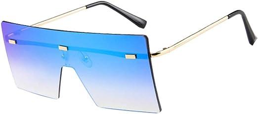 Big Square Sunglasses Women Men Vintage Metal Oversized Shades Eyewear New