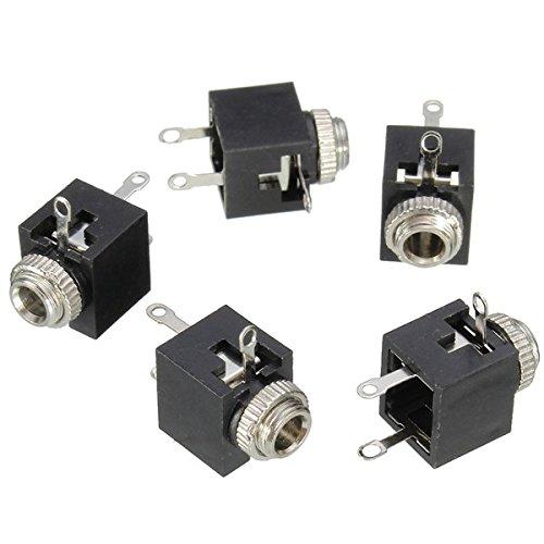 5pcs PCB Panel Mount 3.5mm Female Earphone Jack Socket Connector SINGLE ITEM