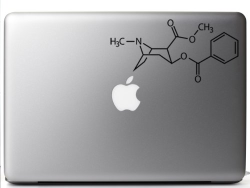 Cocaine Chemical Structure Laptop Decal product image