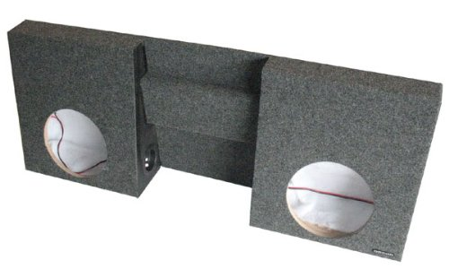 "OBCON Dual 10"" Chevy S-10 Labyrinth Slot Vented Speaker Box with Power Port (Fits Most US Made Mini Trucks)"