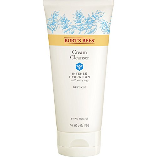 Burts Bees Intense Hydration Cream Cleanser, Moisturizing Face Wash, 6 Ounces