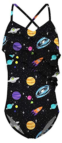 AIDEONE Little Girl's Galaxy Swimsuit One Piece Swimwear Bathing Suits for 4-6T]()