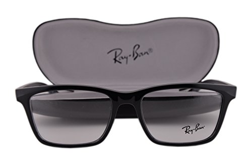 Ray Ban RX7025 Eyeglasses 55-17-145 Shiny Black 2000 RX - Cat Ray Eye Ban Wayfarer