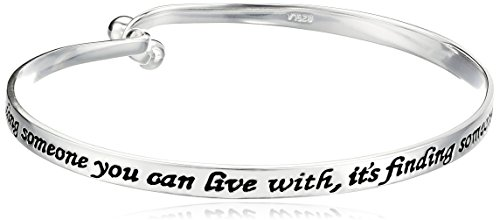 Sterling Finding Someone Sentiment Bracelet