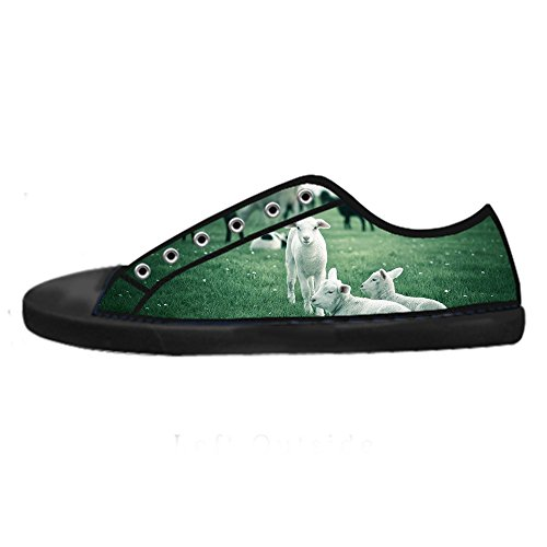 Amazon En Línea Comprar Barato Pago Con Visa Custom Reticolo delle pecore Womens Canvas shoes I lacci delle scarpe scarpe scarpe da ginnastica Alto tetto 7fCeCFO0k