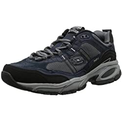 Skechers Sport Men's Vigor 2.0 Trait Memory Foam Sneaker, Navy/Grey, 11.5 XW US