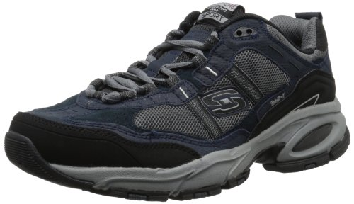 Skechers Sport Men's Vigor 2.0 Trait Memory Foam Sneaker, Navy/Grey, 9.5 XW US