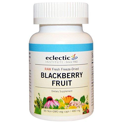 Eclectic Institute, Blackberry Fruit, 480 mg, 90 Non-GMO Veggie Caps - 2pc