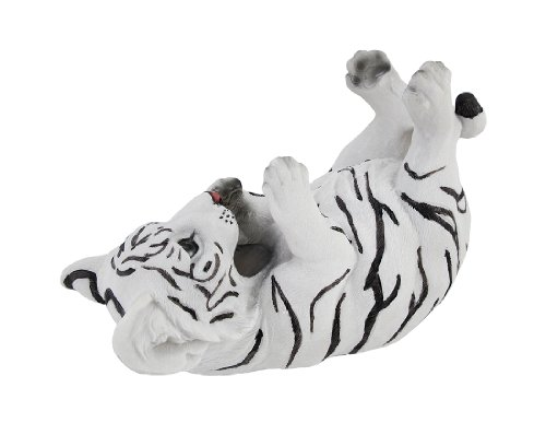 White Bengal Tiger Cub Tabletop Single Wine Bottle Holder Display (Holder Wine Tiger Bottle)