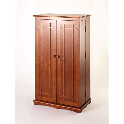 Bowery Hill 40'' CD DVD Wall Media Storage Cabinet in Walnut
