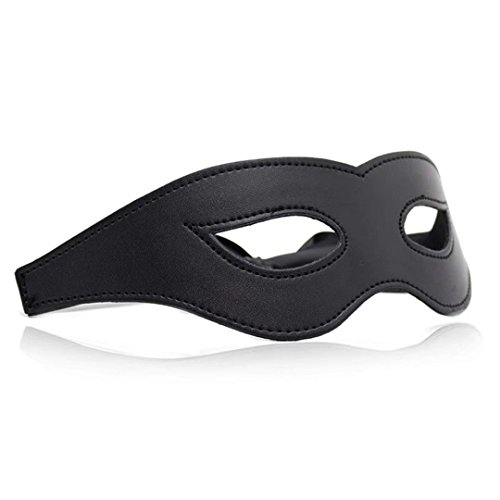 c3af63c79f2 50%OFF Briviee PU Leather Blindfold Mask Eye Mask for Halloween Stage  Props