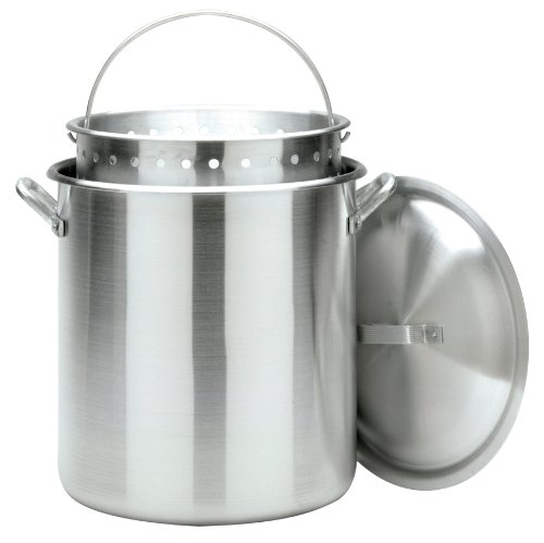 Bayou Classic 1600 Stockpot with Basket, - Pot 160 Quart Stock