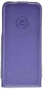 Galeli Rolax - Funda de piel con tapa para iPhone 5 y 5S, color púrpura