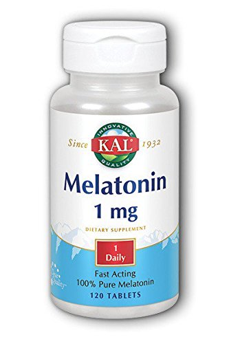 Solaray, Melatonina 1Mg, 120 Tabletas
