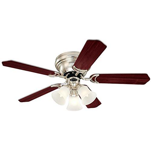 (Westinghouse Lighting 7215900 Contempra Trio Brushed Nickel Indoor Ceiling Fan, Includes Bulbs )