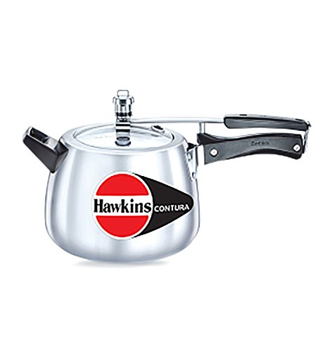 Hawkins Hc40 Contura 4 Liter Pressure Cooker  Small  Aluminum