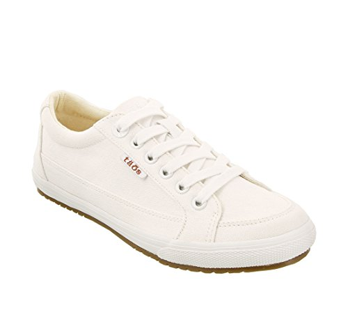 Taos Footwear Women's Moc Star White Canvas Sneaker 9 M US