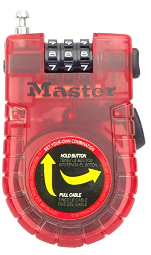 Master Lock Cable Lock, Set Your Own Combination Bike Lock, 3 ft. Long, Assorted Colors, 4605D by Master Lock (Image #3)