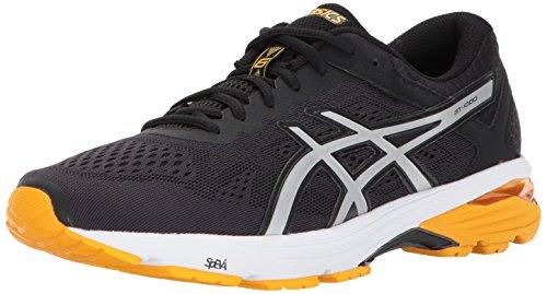 Men Gold Shoes (ASICS Men's GT-1000 6 Running-Shoes, Black/Silver/Gold Fusion, 10 Medium US)